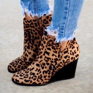 Shoes - JIMMY leopard Print Booties
